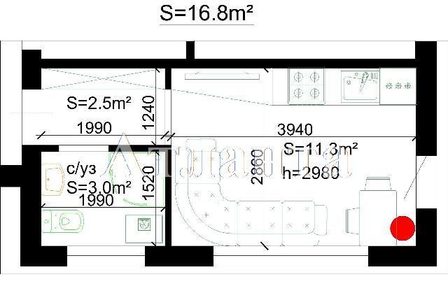 Продается 1-комнатная квартира в новострое на ул. Береговая — 14 000 у.е.