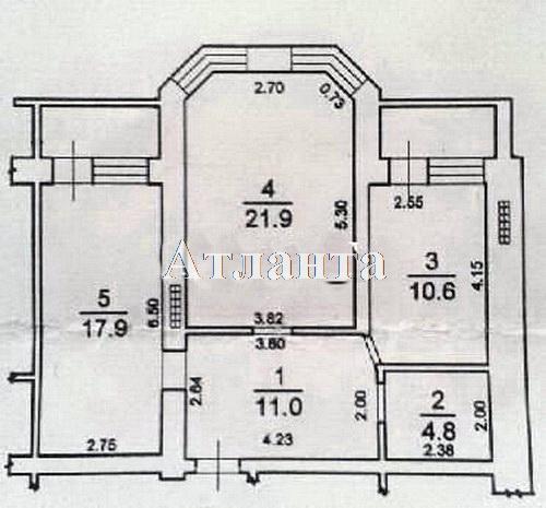 Продается 2-комнатная квартира на ул. Академика Вильямса — 57 000 у.е. (фото №10)