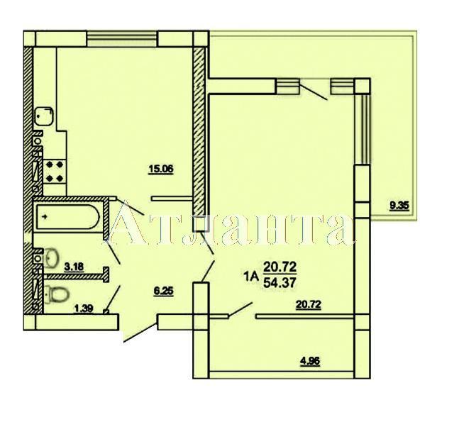 Продается 1-комнатная квартира на ул. Цветаева Ген. — 35 000 у.е. (фото №4)