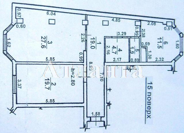 Продается 2-комнатная квартира на ул. Дюковская (Нагорная) — 80 000 у.е. (фото №7)