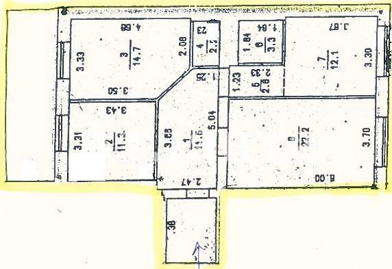 Продается 3-комнатная квартира на ул. Коралловая — 91 000 у.е. (фото №2)