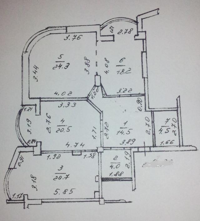 Продается 3-комнатная квартира на ул. Говорова Марш. — 100 000 у.е.