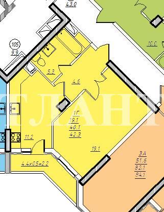 Продается 1-комнатная квартира на ул. Проценко — 37 000 у.е. (фото №7)