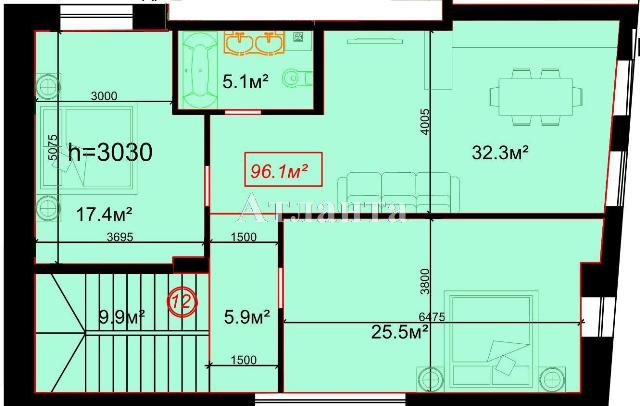 Продается 2-комнатная квартира на ул. Гоголя — 118 000 у.е.