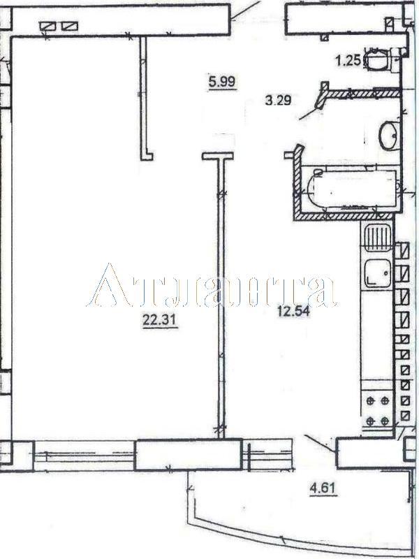 Продается 1-комнатная квартира на ул. Цветаева Ген. — 30 000 у.е.