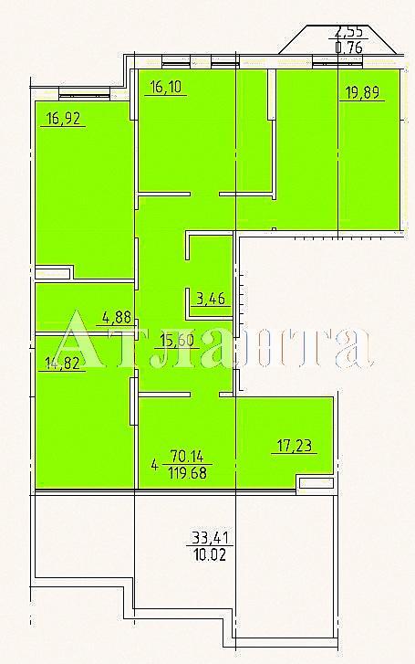 Продается 4-комнатная квартира на ул. Фонтанская Дор. (Перекопской Дивизии) — 240 000 у.е.