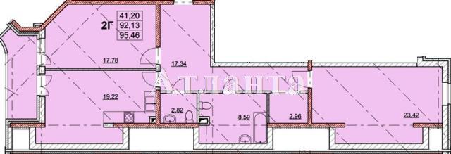 Продается 2-комнатная квартира на ул. Гагаринское Плато — 95 790 у.е.