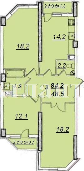Продается 3-комнатная квартира на ул. Проценко — 61 000 у.е.