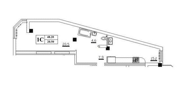Продается 1-комнатная Квартира на ул. Разумовская (Орджоникидзе) — 33 600 у.е. (фото №3)