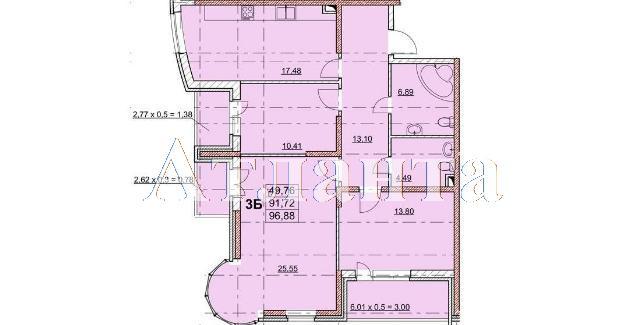 Продается 3-комнатная квартира на ул. Гагаринское Плато — 99 550 у.е.