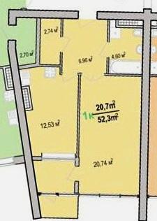 Продается 1-комнатная квартира на ул. Героев Cталинграда — 36 000 у.е. (фото №4)