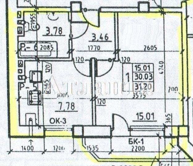 Продается 1-комнатная квартира на ул. Средняя (Осипенко) — 21 840 у.е.