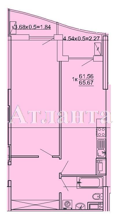 Продается 1-комнатная квартира на ул. Кордонный Пер. — 58 240 у.е.