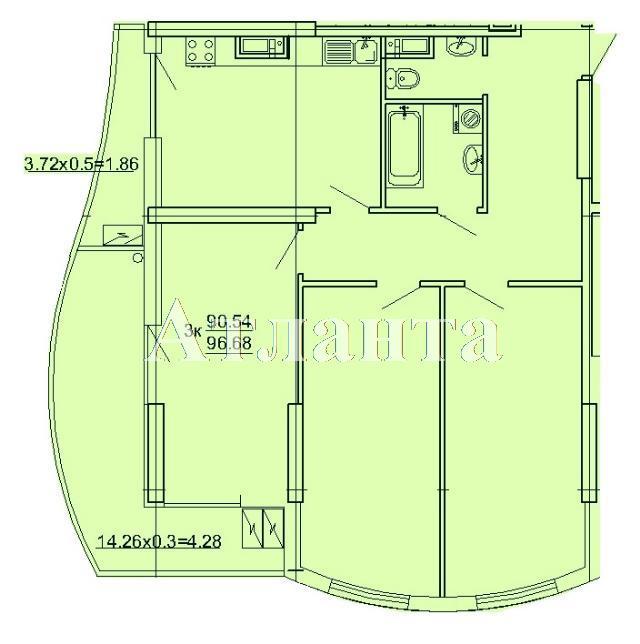 Продается 3-комнатная квартира на ул. Кордонный Пер. — 94 980 у.е.