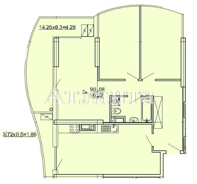 Продается 3-комнатная квартира на ул. Кордонный Пер. — 85 840 у.е.