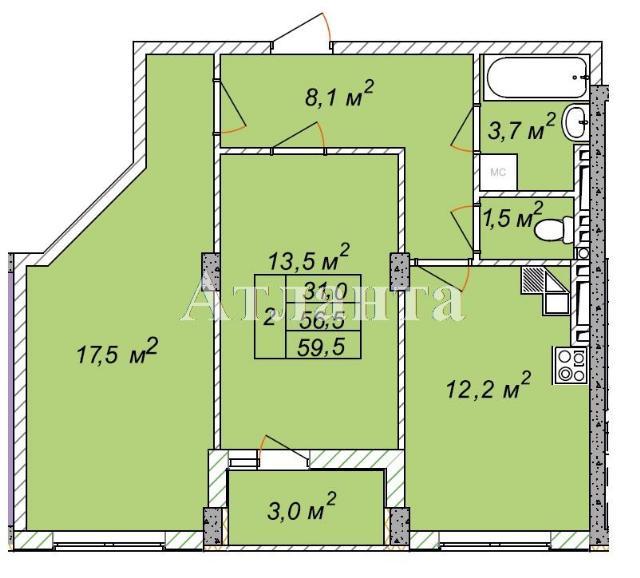Продается 2-комнатная квартира на ул. Святослава Рихтера (Щорса) — 40 460 у.е.
