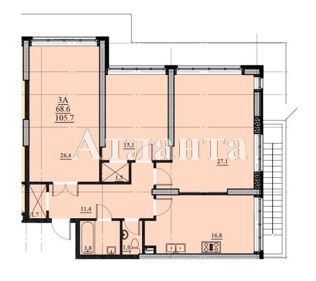 Продается 3-комнатная квартира на ул. Французский Бул. (Пролетарский Бул.) — 117 150 у.е.