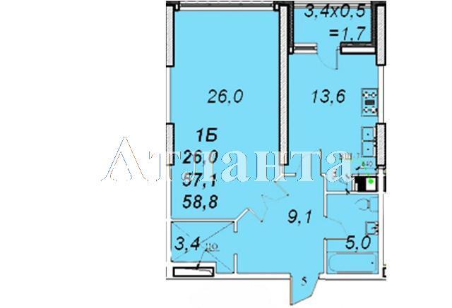 Продается 1-комнатная квартира на ул. Французский Бул. (Пролетарский Бул.) — 80 780 у.е.