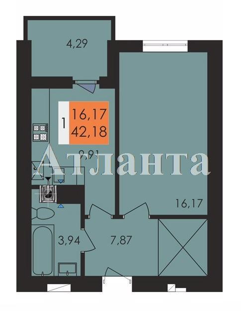 Продается 1-комнатная квартира на ул. Заболотного Ак. — 22 020 у.е.