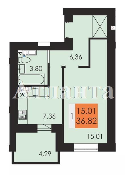 Продается 1-комнатная квартира на ул. Заболотного Ак. — 19 220 у.е.