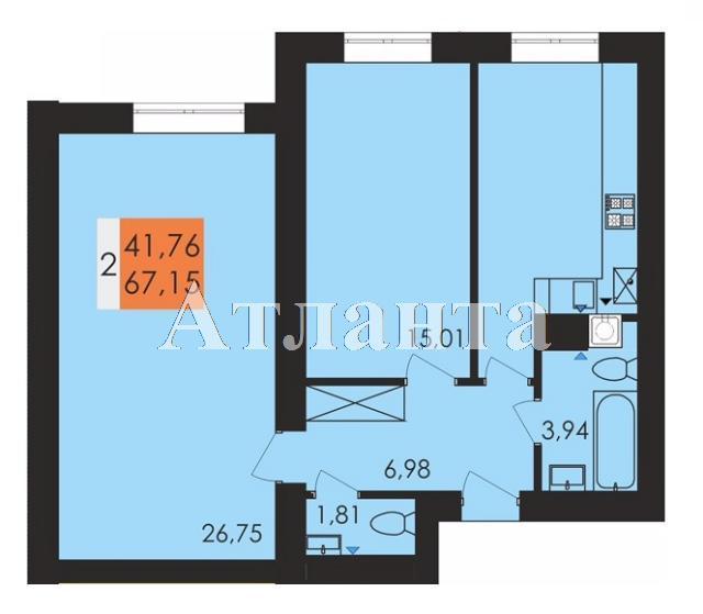 Продается 2-комнатная квартира на ул. Заболотного Ак. — 35 050 у.е.