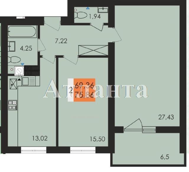 Продается 2-комнатная квартира на ул. Заболотного Ак. — 39 600 у.е. (фото №4)