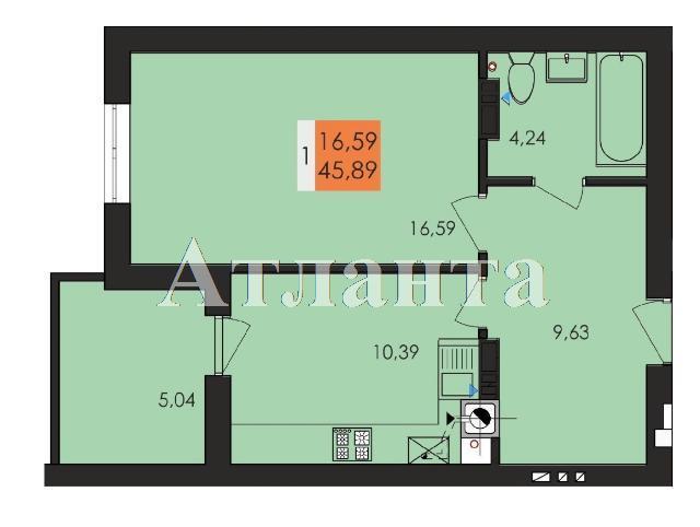 Продается 1-комнатная квартира на ул. Заболотного Ак. — 24 000 у.е.