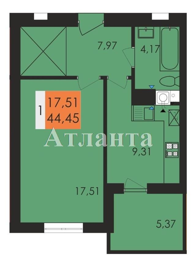 Продается 1-комнатная квартира на ул. Заболотного Ак. — 23 200 у.е.