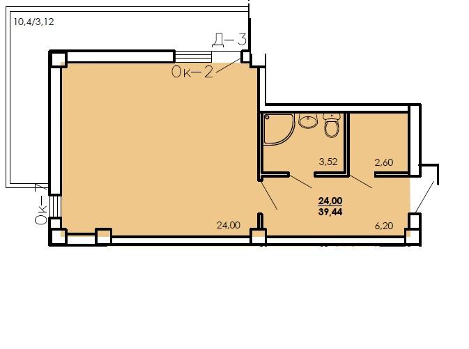 Продается 1-комнатная Квартира на ул. Цветаева Ген. — 21 000 у.е. (фото №6)