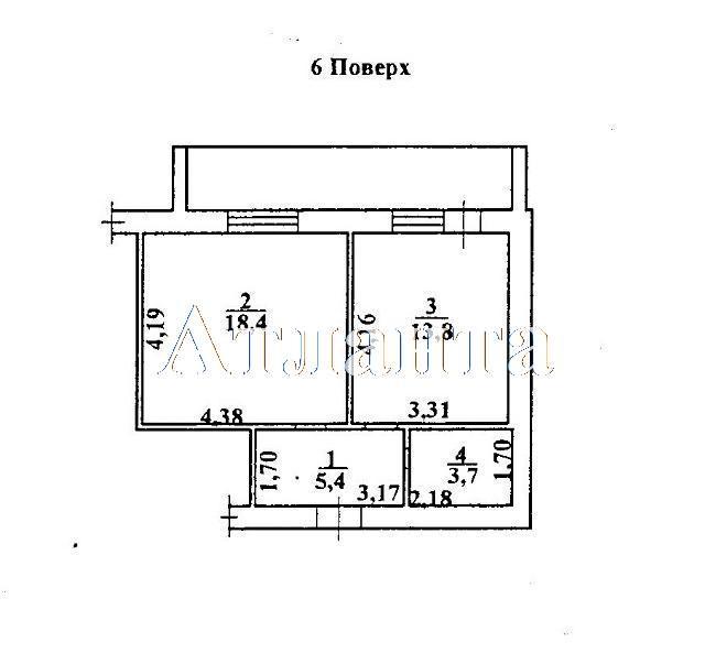 Продается 1-комнатная квартира на ул. Коралловая — 41 580 у.е. (фото №2)