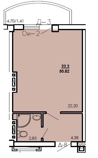Продается 1-комнатная квартира на ул. Цветаева Ген. — 18 490 у.е. (фото №7)