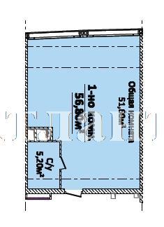 Продается 1-комнатная квартира на ул. Новобереговая — 59 640 у.е.
