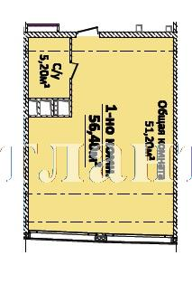 Продается 1-комнатная Квартира на ул. Новобереговая — 64 880 у.е.