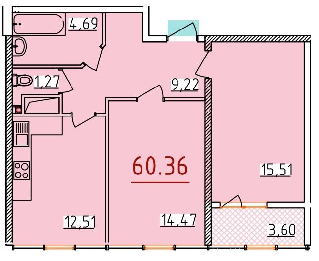 Продается 2-комнатная квартира на ул. Бассейная — 35 550 у.е. (фото №3)