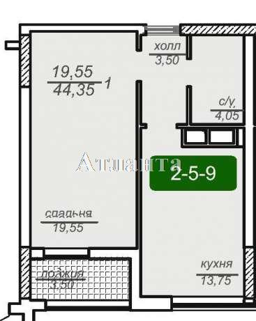 Продается 1-комнатная квартира на ул. Французский Бул. (Пролетарский Бул.) — 52 000 у.е. (фото №2)