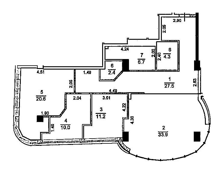 Продается 3-комнатная Квартира на ул. Гагаринское Плато — 104 880 у.е. (фото №4)