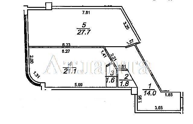 Продается 1-комнатная квартира на ул. Гагаринское Плато — 59 920 у.е.