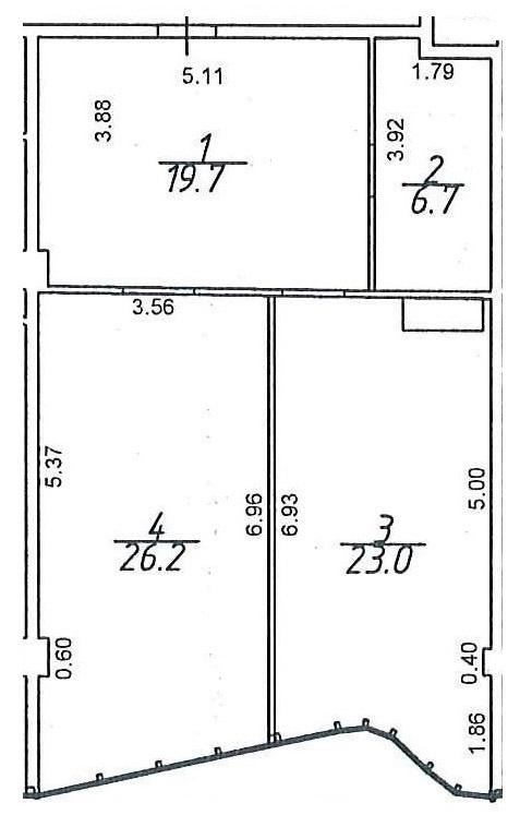 Продается 1-комнатная квартира на ул. Гагаринское Плато — 65 160 у.е. (фото №3)