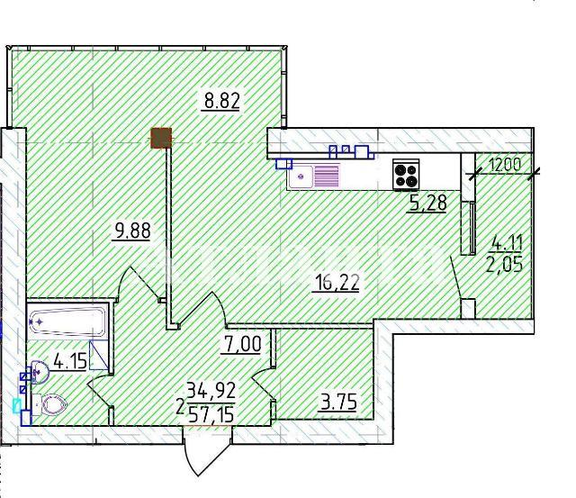 Продается 1-комнатная Квартира на ул. Фонтанская Дор. (Перекопской Дивизии) — 80 000 у.е. (фото №3)
