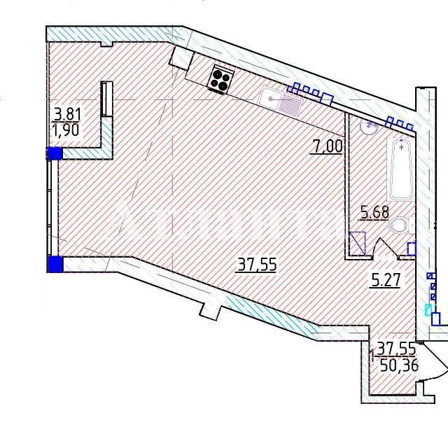 Продается 1-комнатная квартира на ул. Фонтанская Дор. (Перекопской Дивизии) — 87 020 у.е. (фото №3)