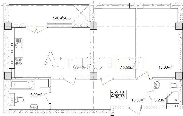 Продается 2-комнатная квартира на ул. Дача Ковалевского (Амундсена) — 59 640 у.е. (фото №4)