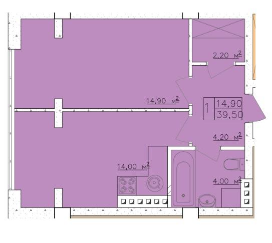 Продается 1-комнатная Квартира на ул. Дача Ковалевского (Амундсена) — 34 370 у.е. (фото №4)