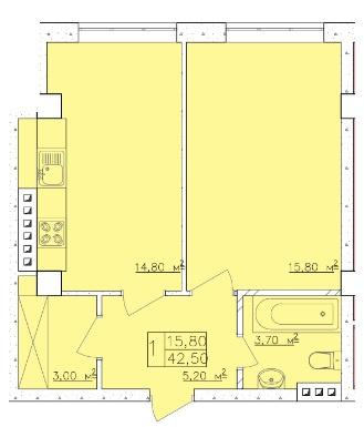 Продается 1-комнатная Квартира на ул. Дача Ковалевского (Амундсена) — 28 480 у.е. (фото №4)