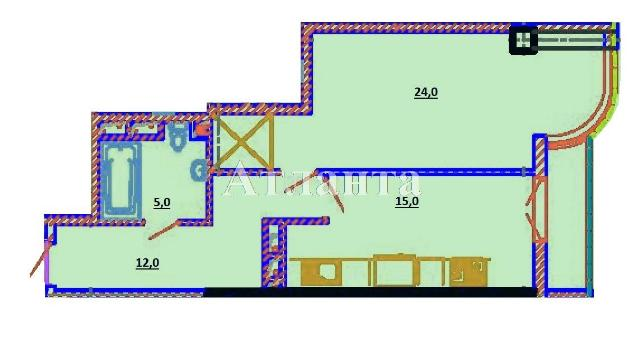 Продается 1-комнатная квартира на ул. Березовая — 52 500 у.е.