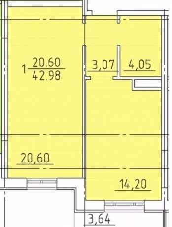 Продается 1-комнатная Квартира на ул. Фонтанская Дор. (Перекопской Дивизии) — 65 000 у.е. (фото №4)