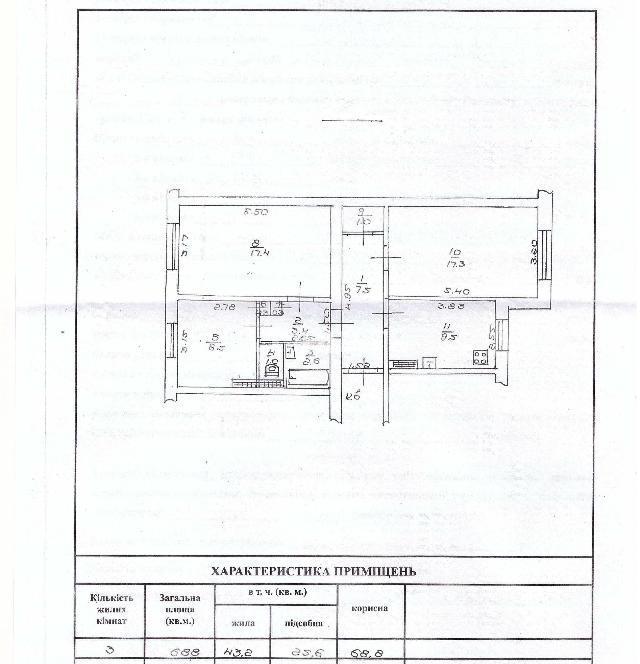Продается 3-комнатная квартира на ул. Глушко Ак. Пр. (Димитрова Пр.) — 65 000 у.е. (фото №20)