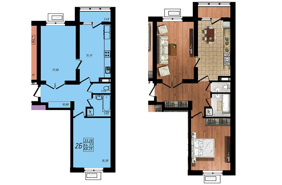 Продается 2-комнатная квартира на ул. Жм Дружный — 40 780 у.е. (фото №5)