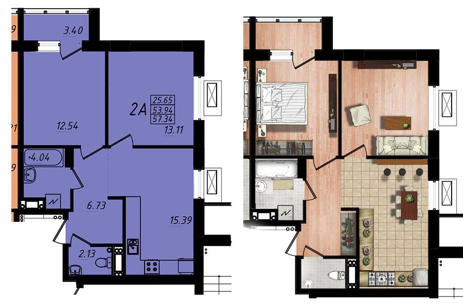 Продается 2-комнатная квартира на ул. Жм Дружный — 34 400 у.е. (фото №6)