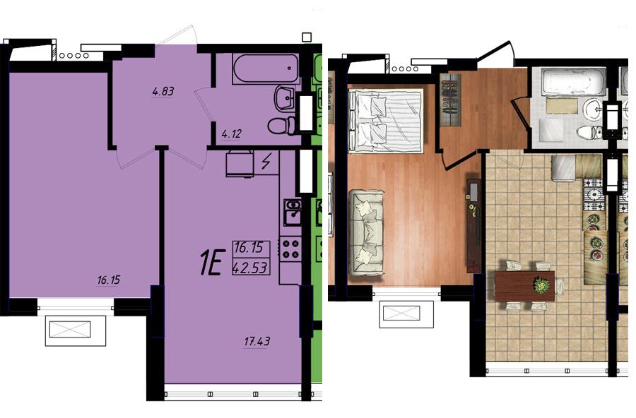 Продается 1-комнатная квартира на ул. Жм Дружный — 25 500 у.е. (фото №5)