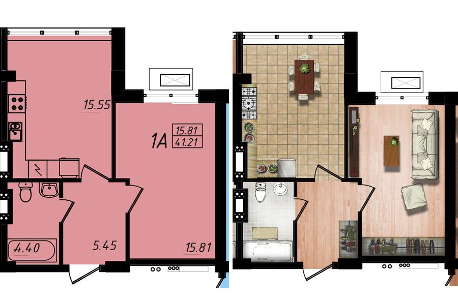 Продается 1-комнатная Квартира на ул. Жм Дружный — 23 390 у.е. (фото №4)